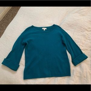 Nordstrom Teal Cashmere Sweater.